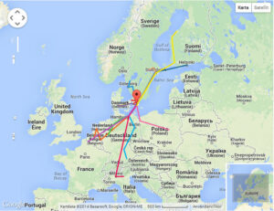 Transport rutter Europa